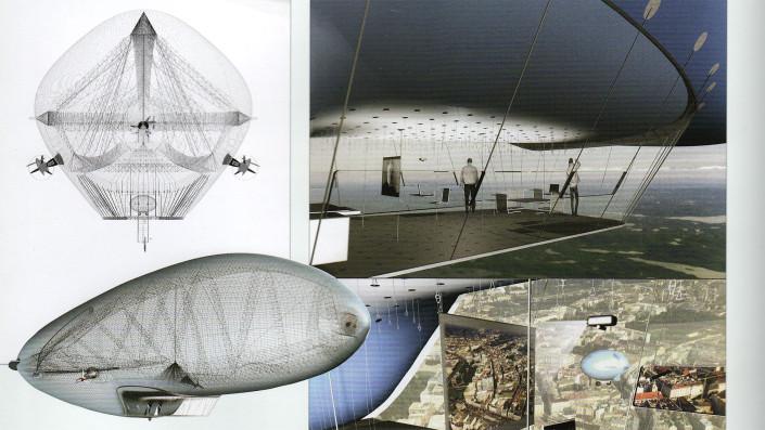 ansichten Luftschiff Zeppelin