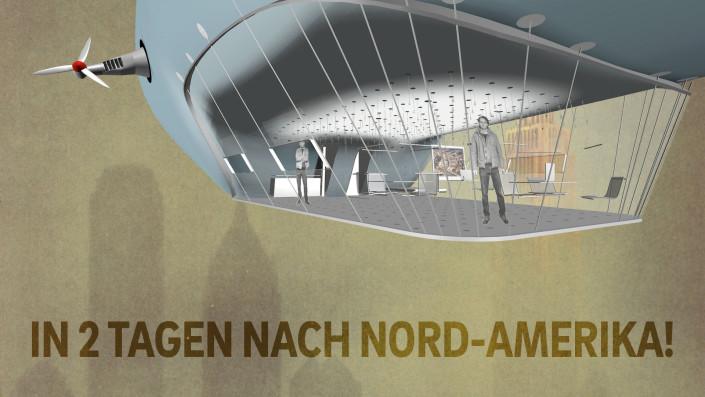 Luftschiff Zeppelin Plakat