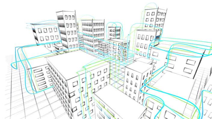 lines, linien, 3d space, pixel, pixel hotel,