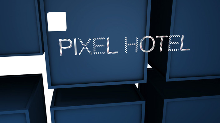 cubes, 3d space, pixel