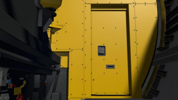 Mobiles Einsatztor, Tür im Tor